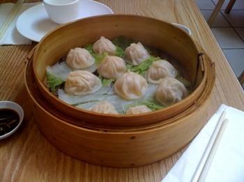 Soup dumplings from Shanghai Dumpling King