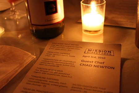 Mission Street Food with Guest Chef Chad Newton of Fish & Farm